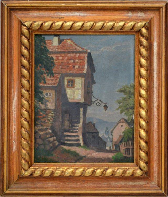 European Village Scene, C. 1920