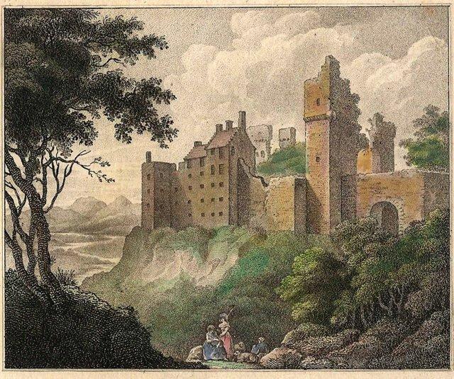 Roslin Castle Print,  1789