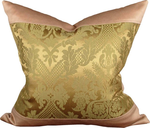 Pillow w/ Italian Silk Damask
