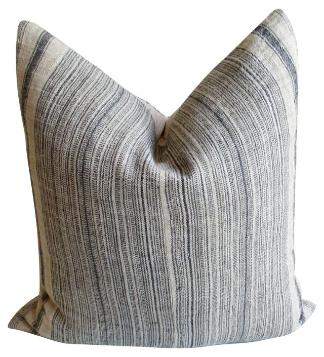 Hmong Linen & Silk Pillow