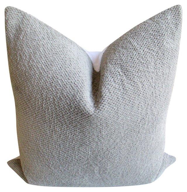 Stone Gray Nubby Cotton  Pillow