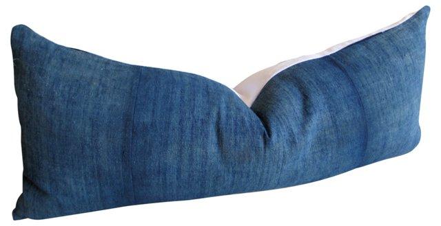Indigo  & White    Body Pillow