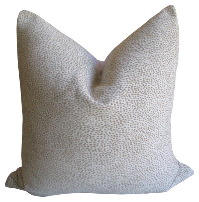 Cheetah Print  & Linen Pillow