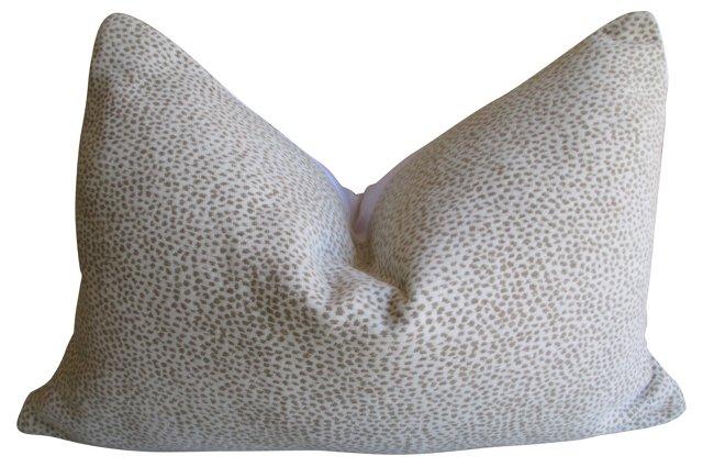 Woven  White Cheetah-Print Pillow