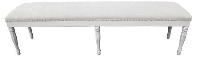 Bench w/   Antique French Linen