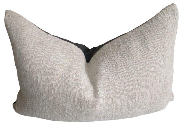 Handwoven  French   Linen Pillow