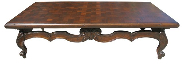 Coffee Table w/ Parquet Inlay