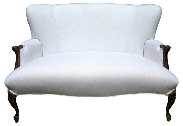 White Linen Settee