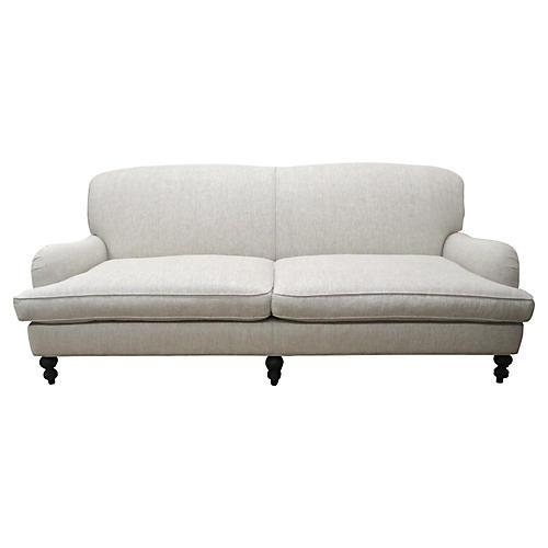Custom Flax Linen Sofa