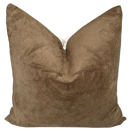 Italian Leather & French Linen Pillow