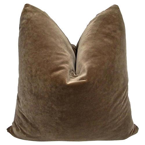 Mocha Velvet Pillow, 24x24
