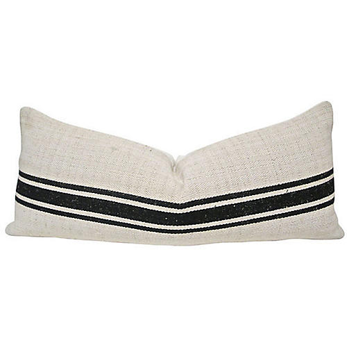 European Herringbone & Linen Body Pillow