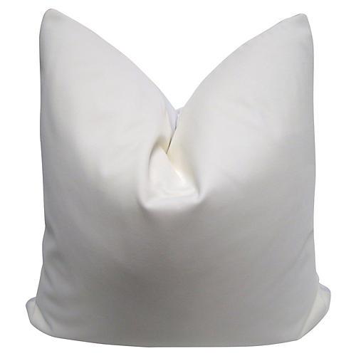 Belgian Ivory Velvet & Linen Pillow
