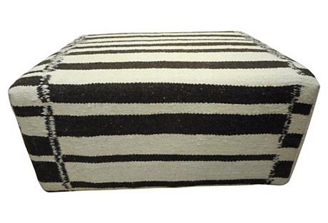 Moroccan  Berber Kilim Wool Ottoman