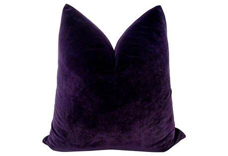 Eggplant Velvet Pillow