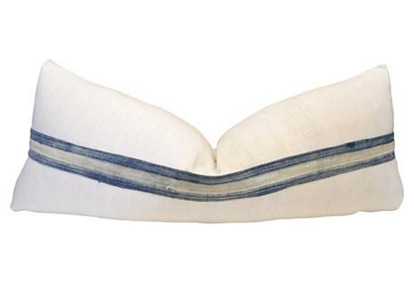 French Linen & Mali Stripe Body Pillow