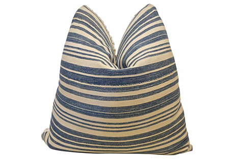 Burkina Faso Stripe & Cable-Knit Pillow
