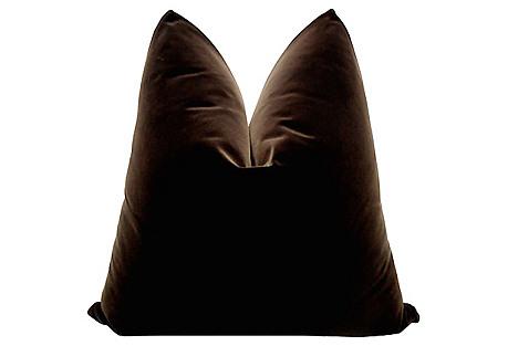 Belgian Espresso Velvet Pillow