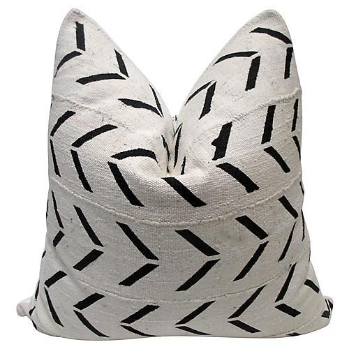 Natural Arrow Mud Cloth & Linen Pillow