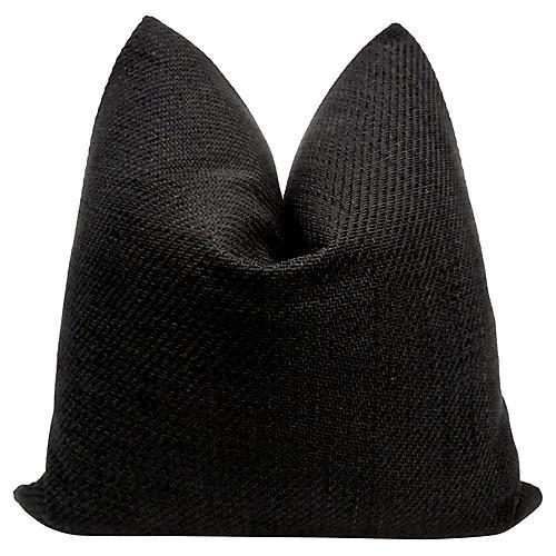 Italian Woven Black & White Linen Pillow