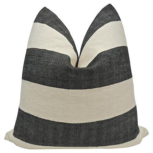 Berber & Antique French Linen Pillow
