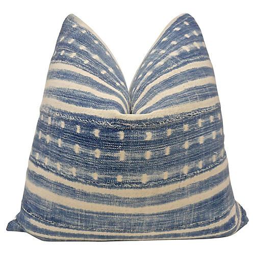 Vintage Mali Blues Pillow