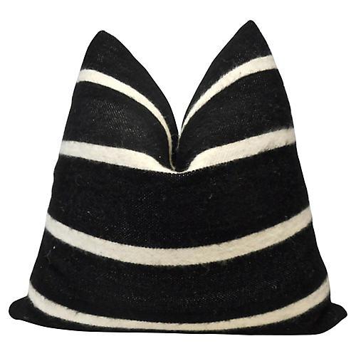 Berber Handloomed Black & White Pillow