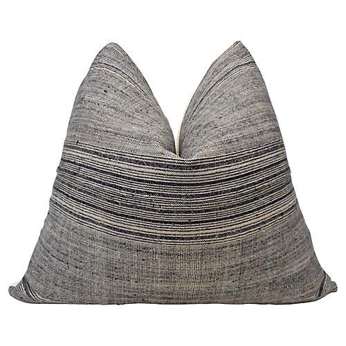 Hmong Hand-Spun Hemp & Linen Pillow