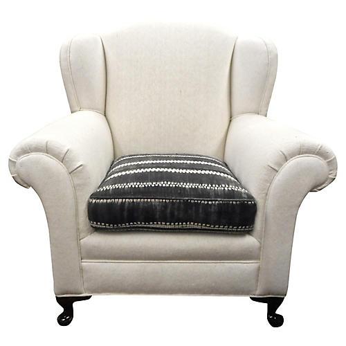 1930s Berber Bergere Wing Chair