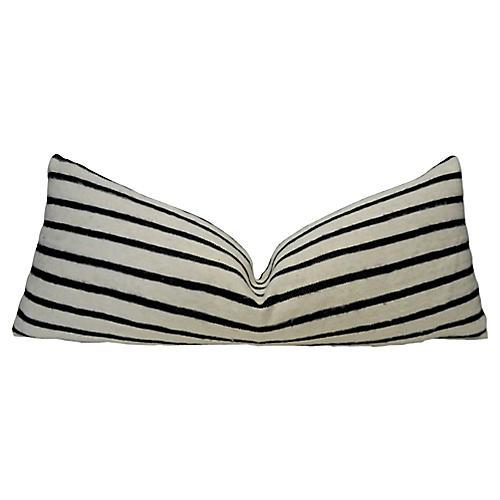 Berber Wool Black & White Body Pillow
