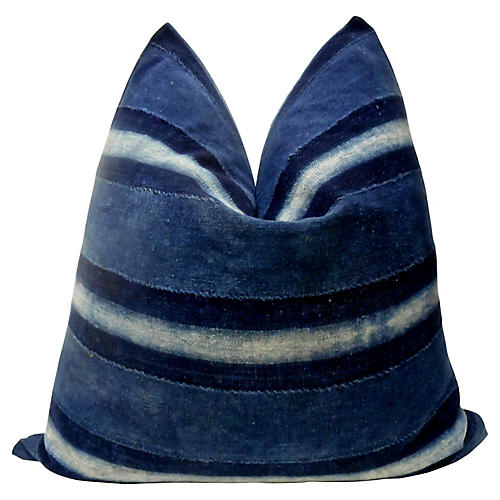 Indigo Blues Hand-Spun Pillow