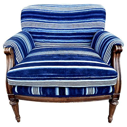 Malian Indigo-Dyed Textile Armchair