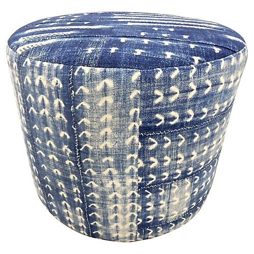 Custom Mali Vintage Indigo Blues Ottoman