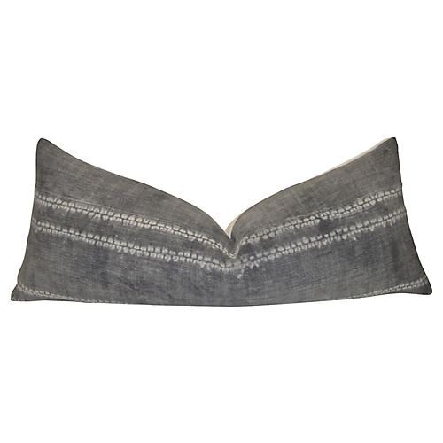 Gray Tribal & French Linen Body Pillow