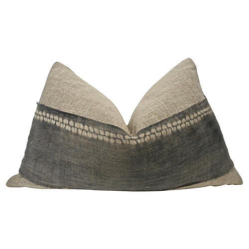 Coba Hemp & Faded Gray Pillow