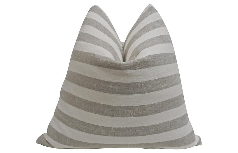 Stone-Washed European Linen Pillow