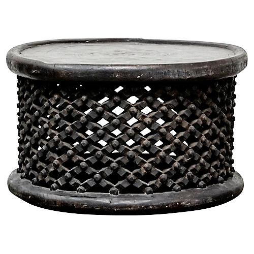 Cameroon Bamileke Drum Table/Seat