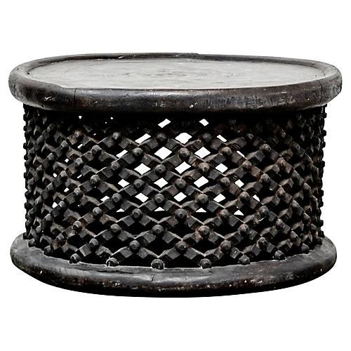 Cameroon Bamileke Drum Table/Seat