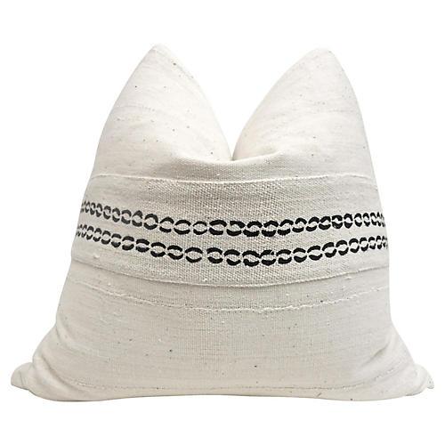 Natural Hand-Woven Pillow
