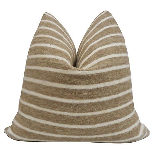 Berber Wool & Natural Hand-Woven Pillow