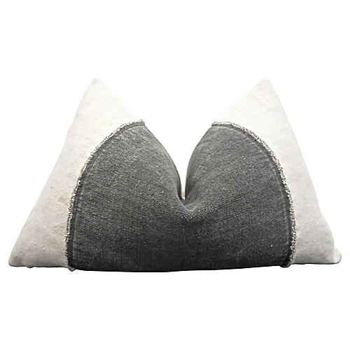 Natural Vintage French Linen Pillow