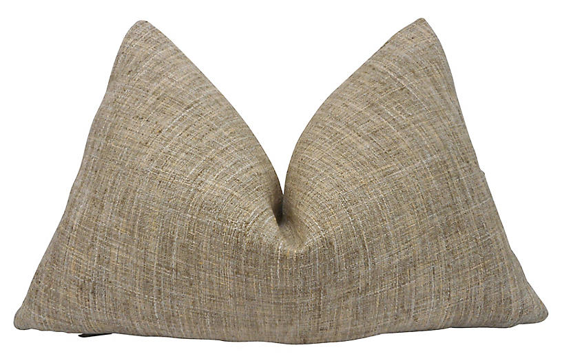 Rustic Reed Woven Pillow