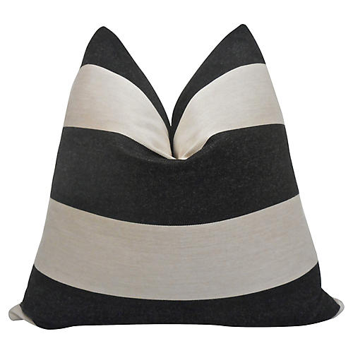 Caravana Stripe Slate Pillow
