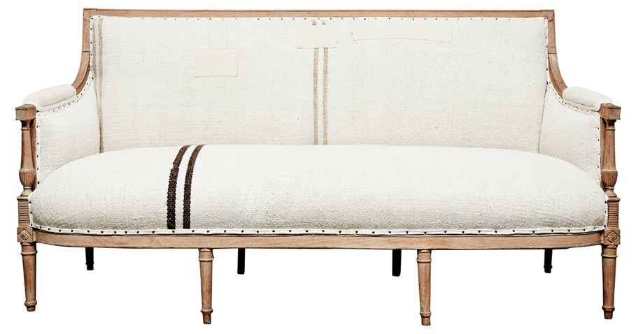 Antique Handwoven Kilim Hemp French Sofa Sofas Sectionals Furniture Category Landing Page One Kings Lane