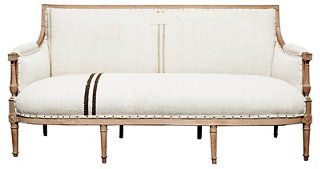 Antique Handwoven Kilim Hemp French Sofa   Sofas U0026 Sectionals   Furniture    Category Landing Page | One Kings Lane