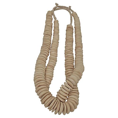 African Bone Disc Beads, S/2