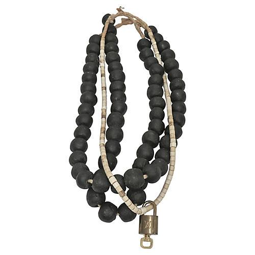 African Beads / Louis Vuitton Lock & Key