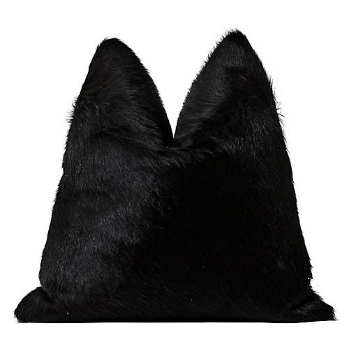 Aspen Ranch Black Hair-On-Hide Pillow