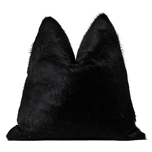 Aspen Ranch Black Hair-On-Hide Pillow