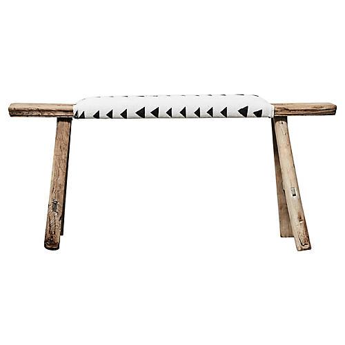 Antique Shandong Elm Bench